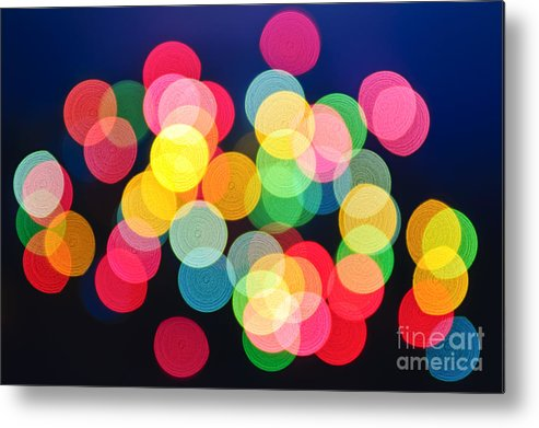 Blurred Metal Print featuring the photograph Christmas Lights Abstract by Elena Elisseeva