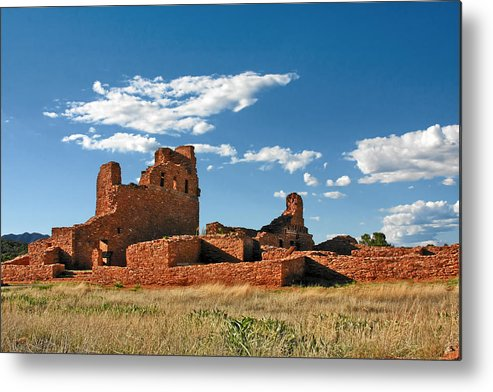 Church Metal Print featuring the photograph Church Abo - Salinas Pueblo Missions Ruins - New Mexico - National Monument by Christine Till