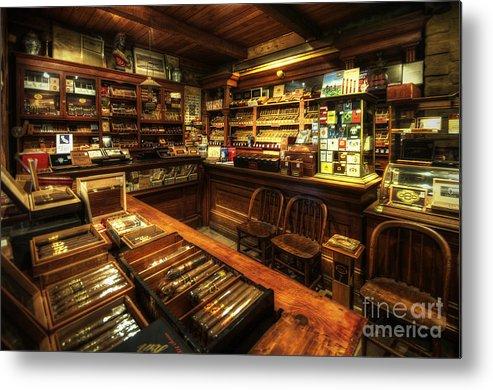 Art Metal Print featuring the photograph Cigar Shop by Yhun Suarez