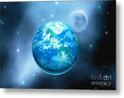 America Metal Print featuring the painting Earth by Corey Ford