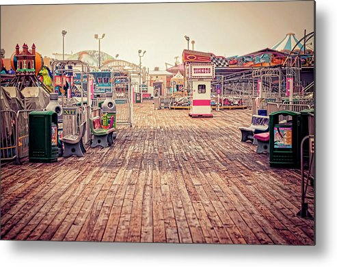 Boardwalk Metal Print featuring the photograph End Of Summer by Heather Applegate
