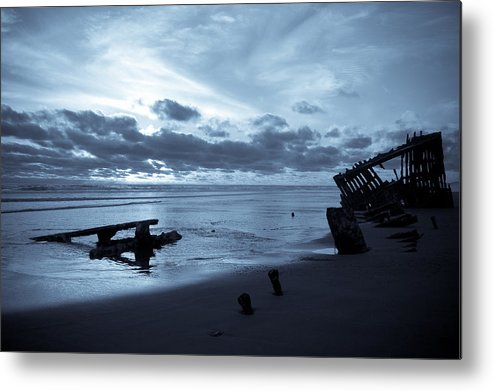 Shipwreck Metal Print featuring the photograph Ghost Ship by Jennifer Owen