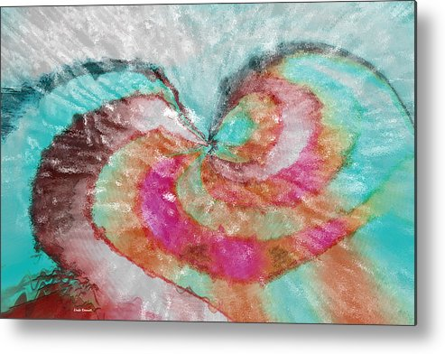 Abstract Art Metal Print featuring the digital art Happy Valentine's Day by Linda Sannuti