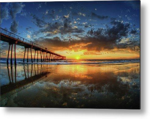Horizontal Metal Print featuring the photograph Hermosa Beach by Neil Kremer