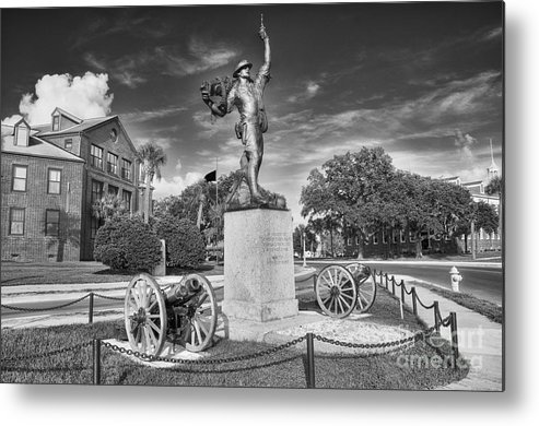 iron Mike Metal Print featuring the photograph Iron Mke Statue - Parris Island by Scott Hansen