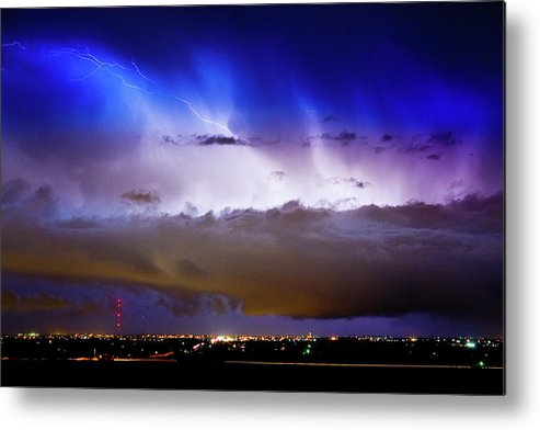 bo Insogna Metal Print featuring the photograph Lightning Thunder Head Cloud Burst Boulder County Colorado Im39 by James BO Insogna