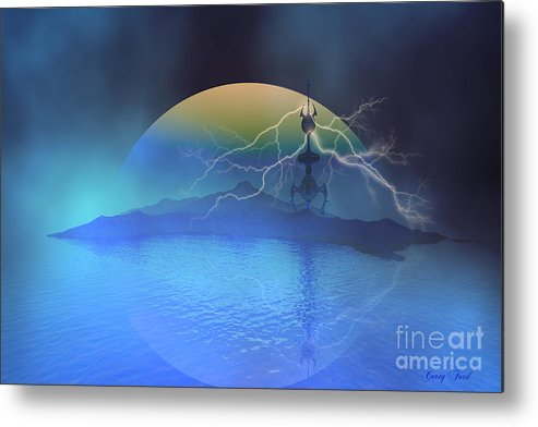 Space Art Metal Print featuring the painting Magnetic Flux by Corey Ford
