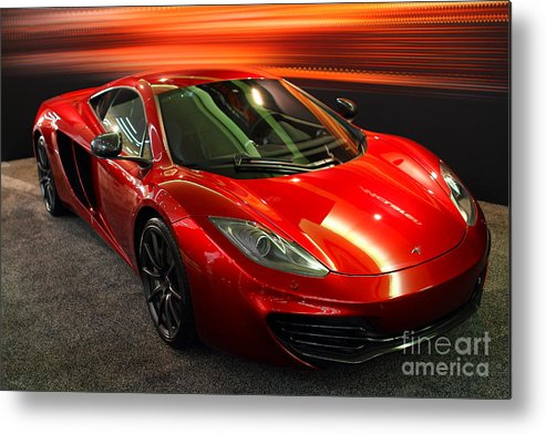 Wingsdomain Metal Print featuring the photograph Mclaren Mph-12c Sportscar by Wingsdomain Art and Photography
