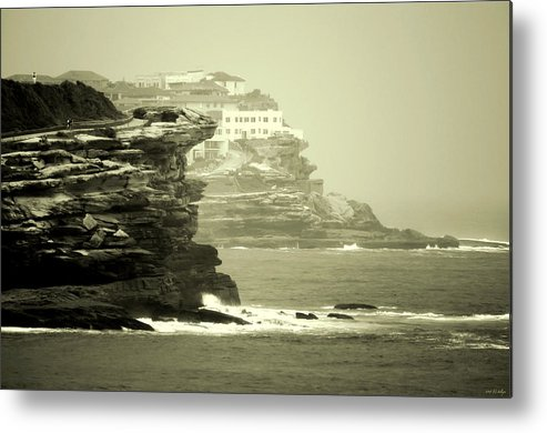 Landscapes Metal Print featuring the photograph On The Rugged Cliffs by Holly Kempe