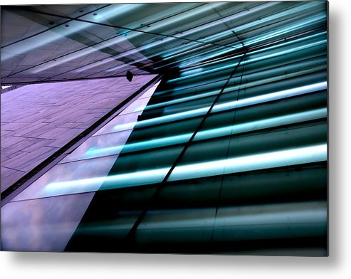 Abstract Metal Print featuring the photograph Oslo Opera House Norway 211 by Per Lidvall