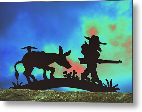 Silhouette Metal Print featuring the photograph Prospector's Silhouette by Richard Henne