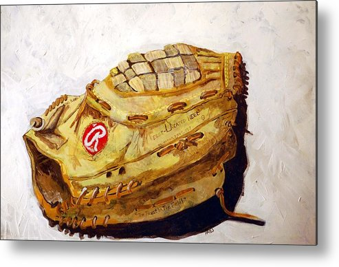 Outfield Metal Print featuring the painting Rbg 36 Dale Murphy by Jame Hayes