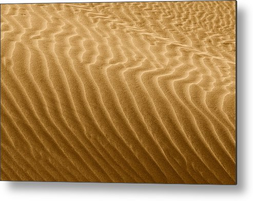 Sand Metal Print featuring the photograph Sand Dune Mojave Desert California by Christine Till