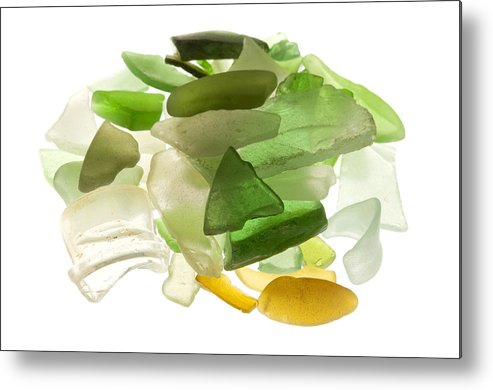 White Background Metal Print featuring the photograph Sea Glass by Fabrizio Troiani
