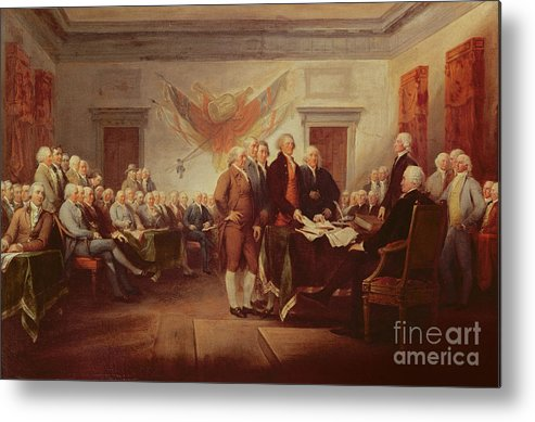 Signing Metal Print featuring the painting Signing The Declaration Of Independence by John Trumbull