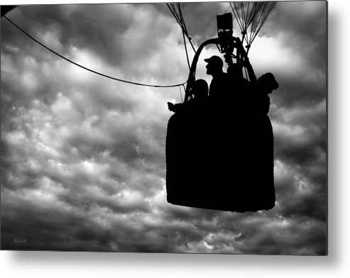 Silhouette Metal Print featuring the photograph The Adventure Begins Hot Air Balloon by Bob Orsillo