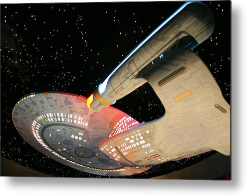 Spaceship Metal Print featuring the photograph To Boldly Go by Kristin Elmquist