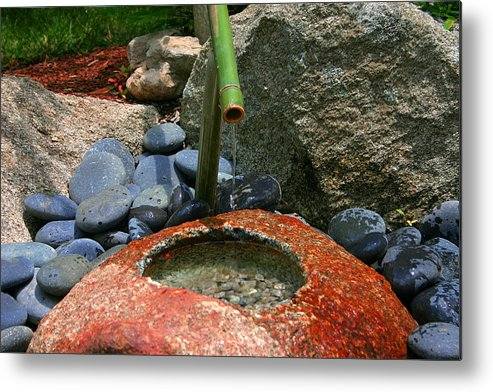Japanese Garden Metal Print featuring the photograph Tranquility1 by Charles Warren