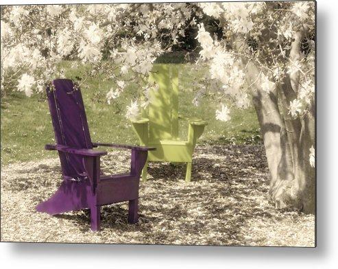 Magnolia Metal Print featuring the photograph Under The Magnolia Tree by Tom Mc Nemar