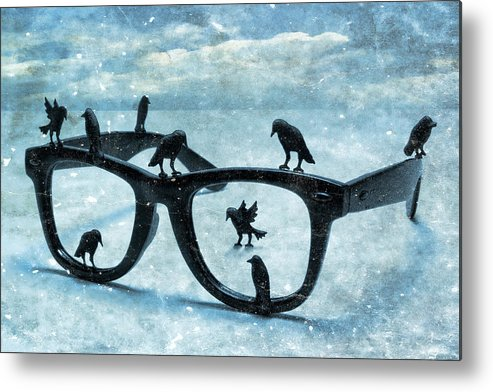 Surrealism Metal Print featuring the photograph What The Crows Found by Jeff Gettis