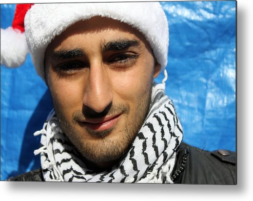 Young Metal Print featuring the photograph Young Palestinian Man by Munir Alawi