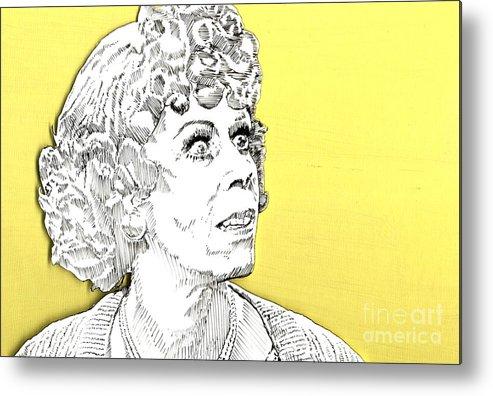 Carol Metal Print featuring the mixed media Momma On Yellow by Jason Tricktop Matthews