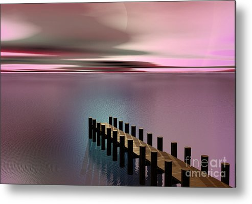 Storm Metal Print featuring the painting A Perfect Calm by Barbara Milton