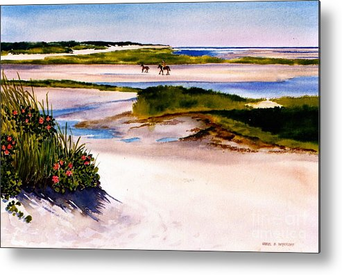 Beach Metal Print featuring the painting Brewster Ebb Tide by Karol Wyckoff