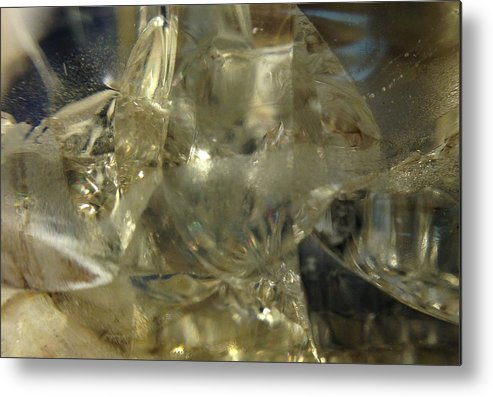 Glass Metal Print featuring the photograph Depths Within by Gaby Tench