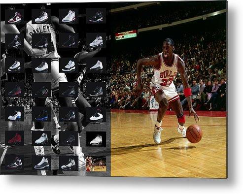 Michael Jordan Metal Print featuring the photograph Michael Jordan Shoes by Joe Hamilton