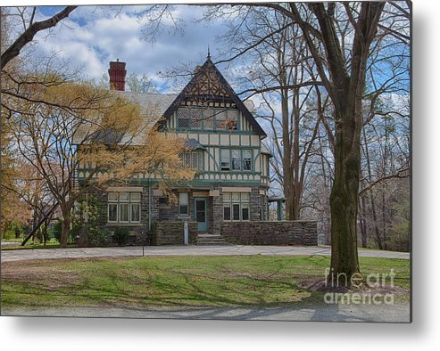 Haverford College Metal Print featuring the photograph Old House On Haverford Campus by Kay Pickens