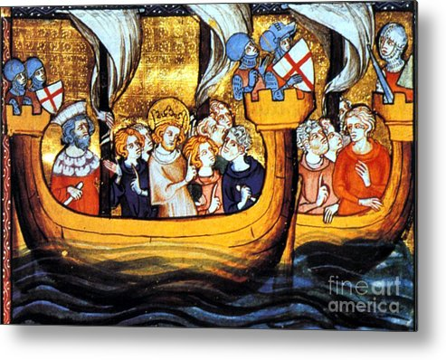 Navigation Metal Print featuring the photograph Seventh Crusade 13th Century by Photo Researchers