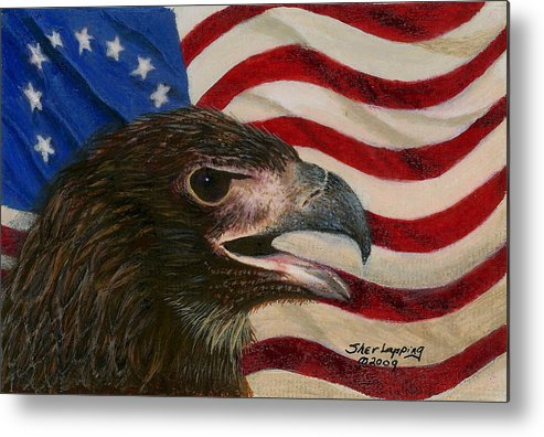Eagle Metal Print featuring the painting Young Americans by Sherryl Lapping