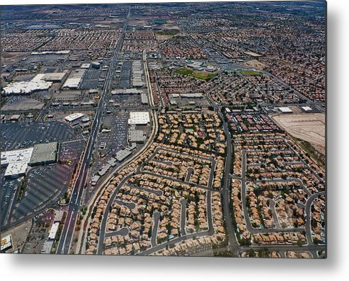 Metal Print featuring the digital art Arial View Of Las Vegas by Susan Stone