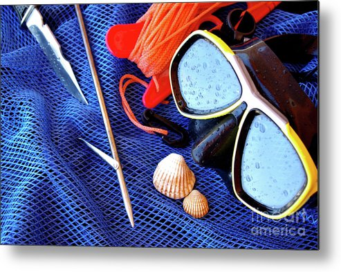 Apnea Metal Print featuring the photograph Dive Gear by Carlos Caetano