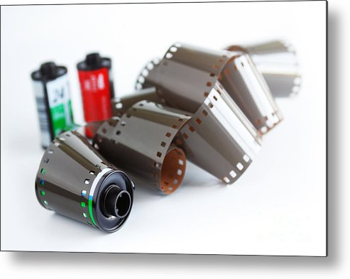 35mm Metal Print featuring the photograph Film And Canisters by Carlos Caetano