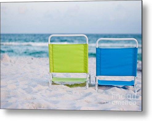 Beach Metal Print featuring the photograph If I Were A Chair... by Barbara Shallue