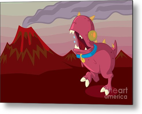 Illustrator Metal Print featuring the drawing Dino by Kyle Harper