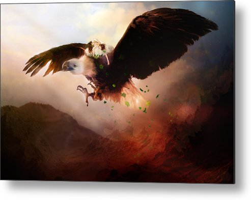 Children Metal Print featuring the digital art Flight Of The Eagle by Mary Hood