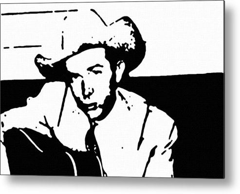Musicians Metal Print featuring the painting Hank Williams by Jeff DOttavio