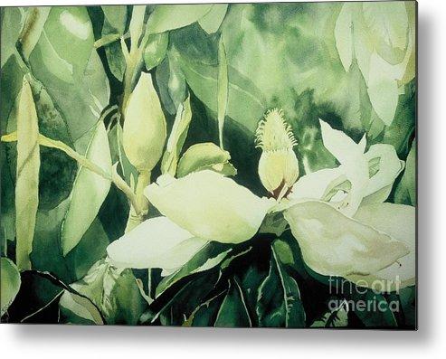 Magnolias Metal Print featuring the painting Magnolium Opus by Elizabeth Carr