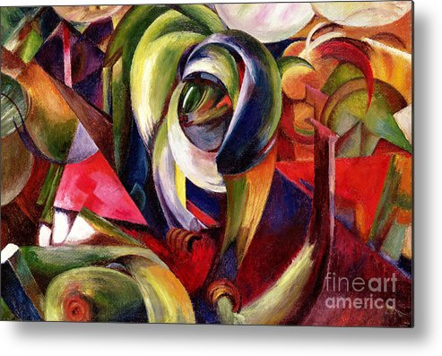 Mandrill Metal Print featuring the painting Mandrill by Franz Marc