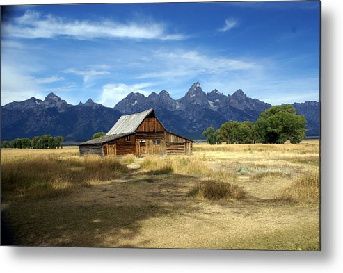 Grand Teton National Park Metal Print featuring the photograph Teton Barn 3 by Marty Koch