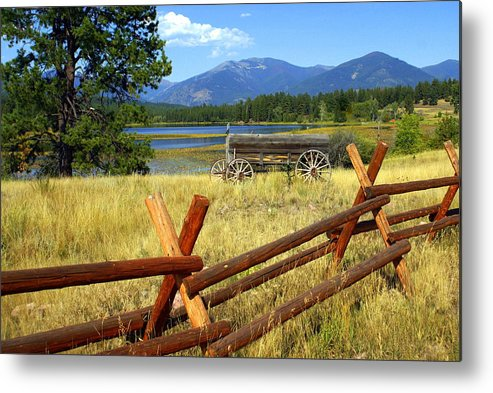 Landscape Metal Print featuring the photograph Wagon West by Marty Koch