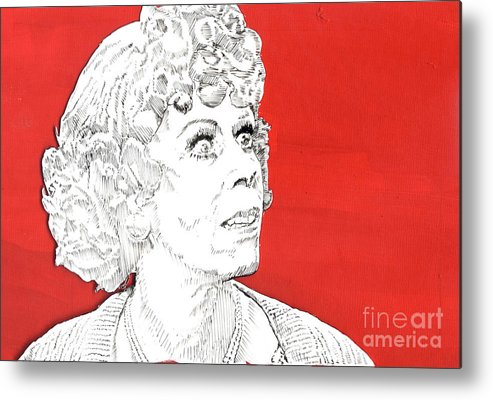 Carol Metal Print featuring the mixed media Momma On Red by Jason Tricktop Matthews