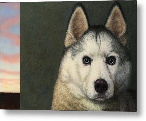 Dog Metal Print featuring the painting Dog-nature 9 by James W Johnson
