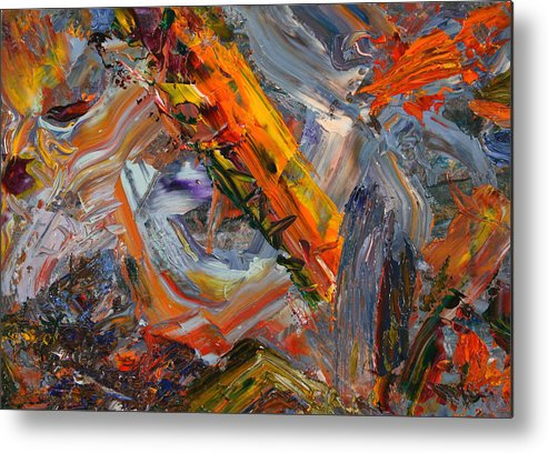 Abstract Metal Print featuring the painting Paint Number 44 by James W Johnson
