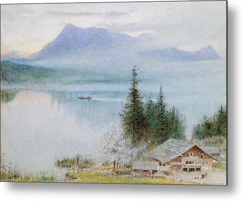 Chalet Metal Print featuring the drawing Righi by Albert Goodwin