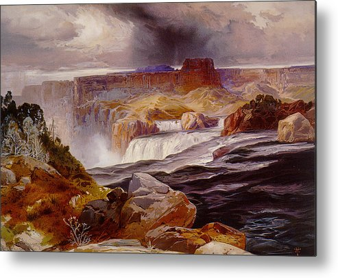 Unknown Metal Print featuring the photograph Snake River Idaho 1876 by Unknown