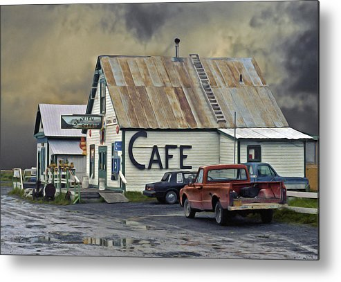 Alaska Metal Print featuring the photograph Vintage Alaska Cafe by Ron Day